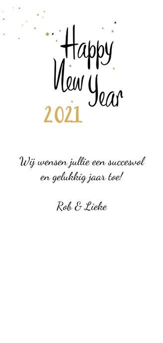 Happy New Year champagne bubbels en sterren met jaartal 3