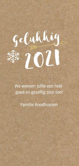 Hippe langwerpige nieuwjaarskaart 2021 met grote foto  3