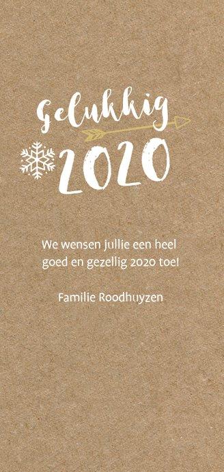 Hippe langwerpige nieuwjaarskaart met grote foto  3