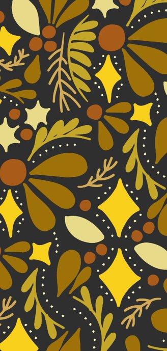 Hippe Neujahrskarte 2020 botanischer Hintergrund 2