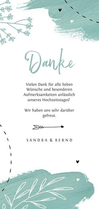 Hochzeitsjubiläum Dankeskarte Foto & Scribble Rückseite