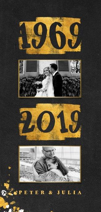 Jubileumkaart goudlook 1969/2019 met foto 2