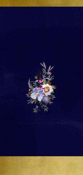 Jubileumkaart oude meesters bloemen goud jaar aanpasbaar Achterkant