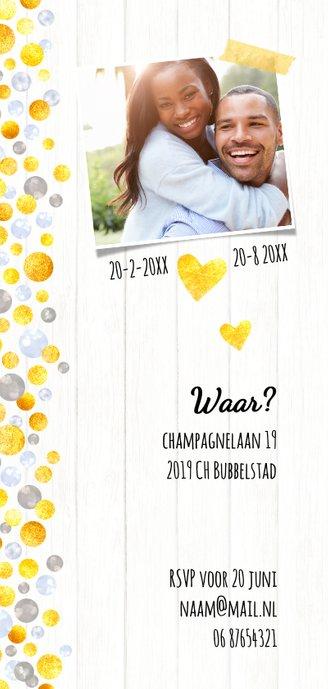 Jubileumkaart uitnodiging champagne 2