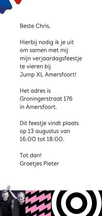 Jump XL uitnodiging JumpParty Jongen/Meisje 3