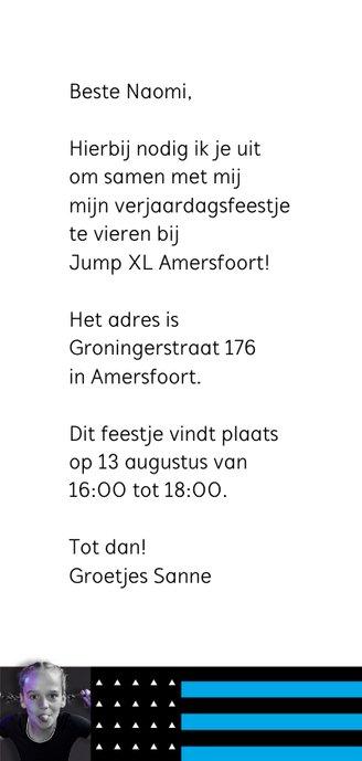 Jump XL uitnodiging JumpParty Meisje 3