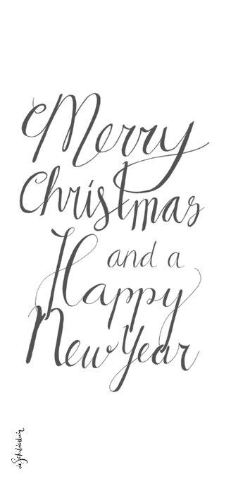 Kerst handlettering merry christmas  2