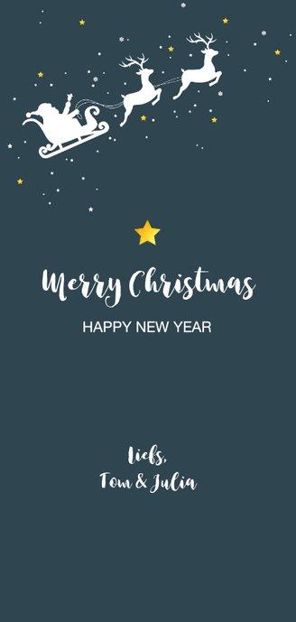 Kerst - Silhouet rendieren met slede Achterkant