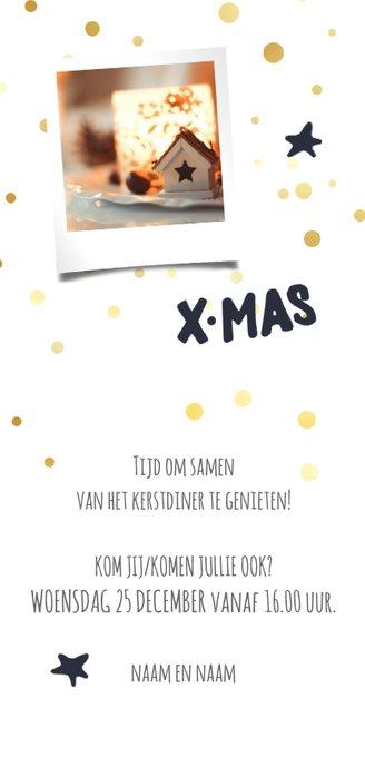 Kerstdiner uitnodiging met foto 2020 Achterkant