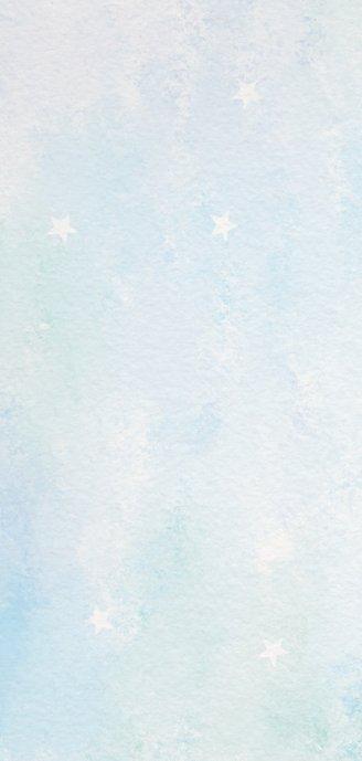 Kerstkaart blauw-groen aquarel met 3 kerstballen Achterkant