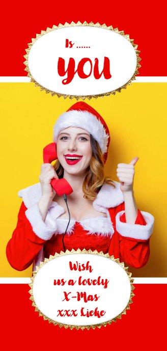 Kerstkaart grappig eigen fotostrip Achterkant