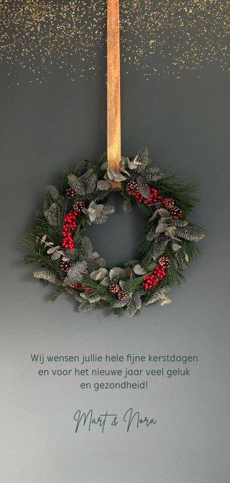 Kerstkaart kerstkrans klassiek 2