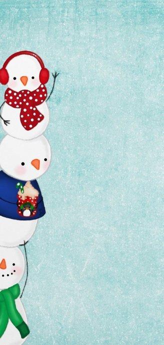Kerstkaart kerstmis sneeuwmannen 2