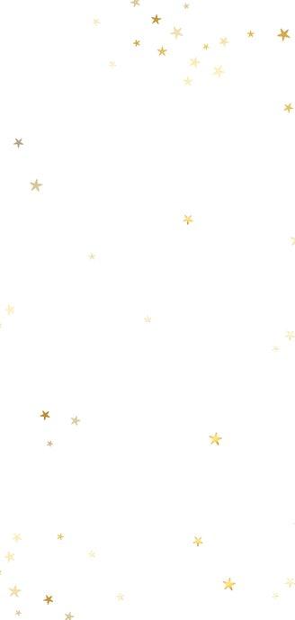 Kerstkaart langwerpig collage met gouden sterren Achterkant