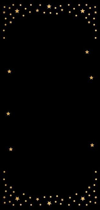 Kerstkaart langwerpig hout goud confetti 2