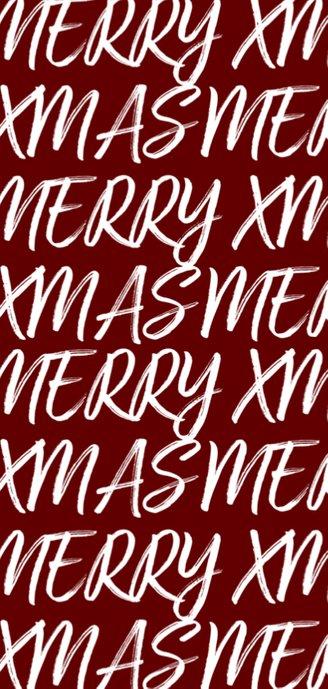 Kerstkaart langwerpig met handgeschreven tekst en foto 2