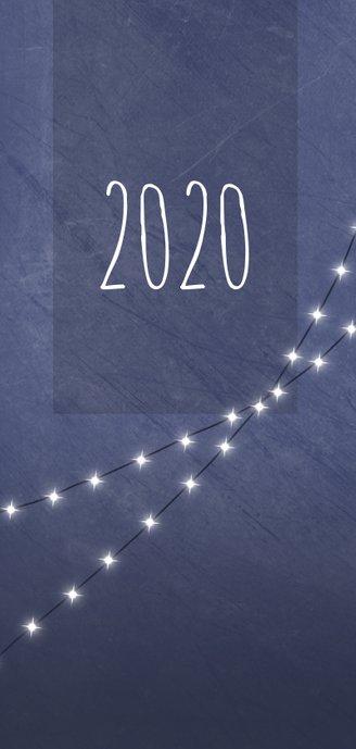 Kerstkaart met foto en lichtjes 2020 2