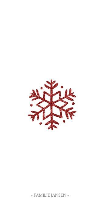 Kerstkaart met sierlijk 'merry christmas' en foto's  3