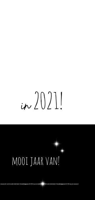 Kerstkaart modern 2020-2021 foto en ster 3
