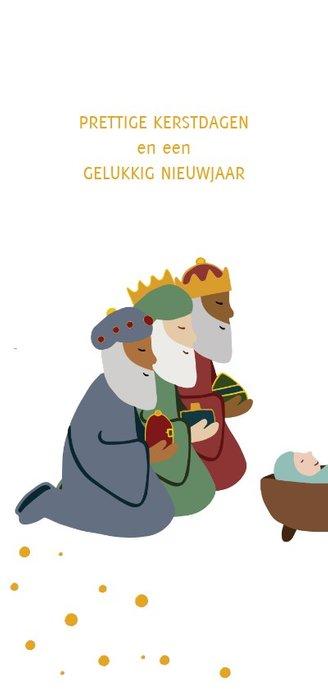 Kerstkaart wijze uit het oosten & kerstverhaal 2