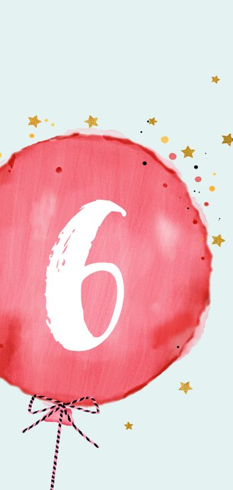 Leuke uitnodiging kinderfeest met rode ballon 2