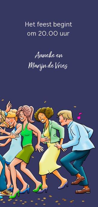 Leuke uitnodiging voor een feest met dansende vrienden 3