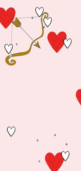 Leuke valentijnskaart met quote over liefde met illustraties Achterkant