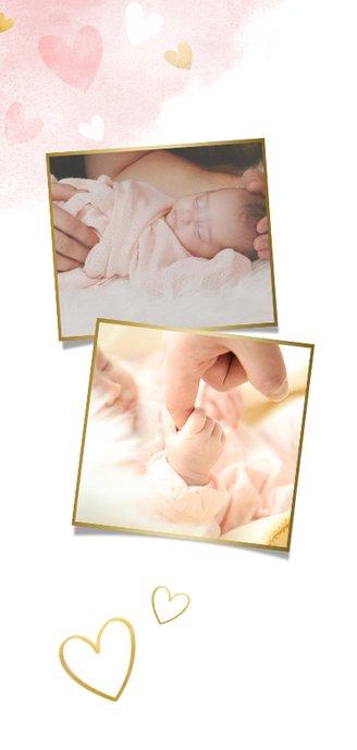 Menükarte Taufe rosa Silhouette kleine & große Schwester 2