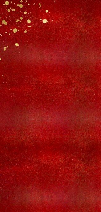 Menükarte zu Weihnachten rot mit Sternen 2
