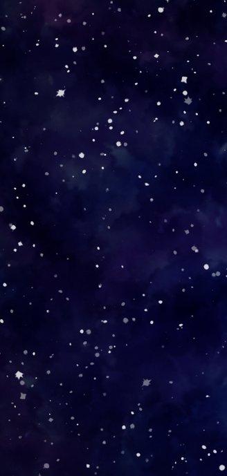 Menükarte zum Hochzeitsdinner im Galaxy Design Rückseite