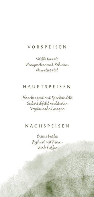 Menükarte zur Hochzeit Aquarell & Zweige 3