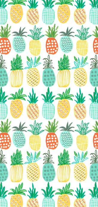 Menukaart tropisch 21 diner ananas Achterkant