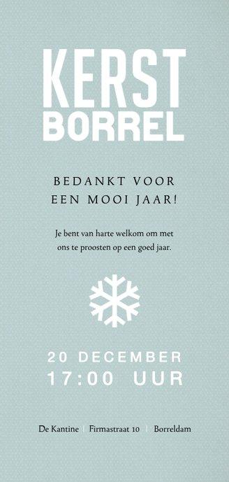 Modern vormgegeven uitnodiging kerstborrel 3