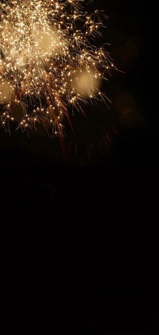 Nieuwjaar 2021 vuurwerk fotocollage Achterkant