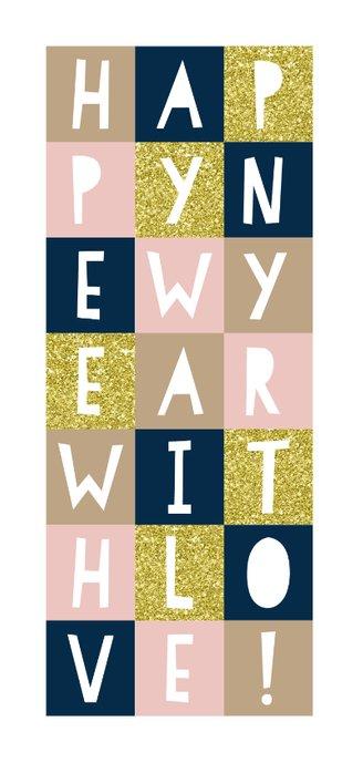 Nieuwjaarskaart '2020' met vakjes en foto's 2