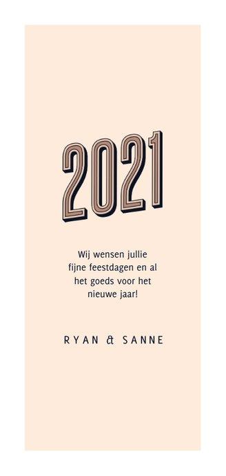 Nieuwjaarskaart foto retro 2021 happy new year Achterkant