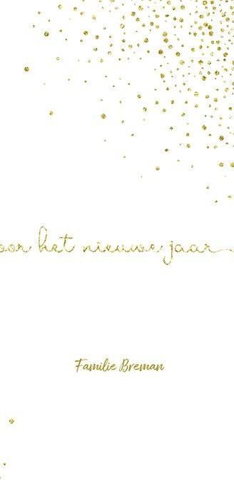 Nieuwjaarskaart glitter wit met'tweeduizendeenentwintig'  3