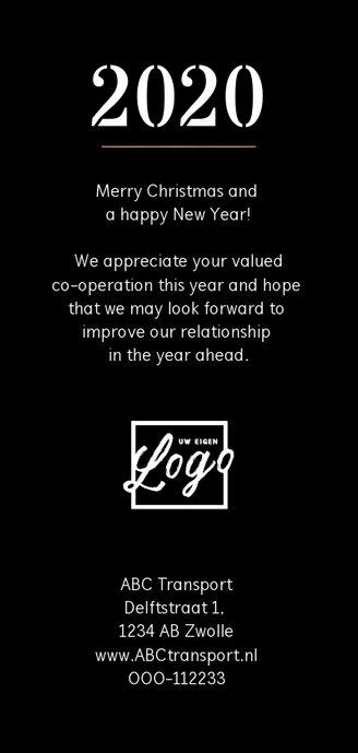 Nieuwjaarskaart goudlook geometrisch champagne Achterkant