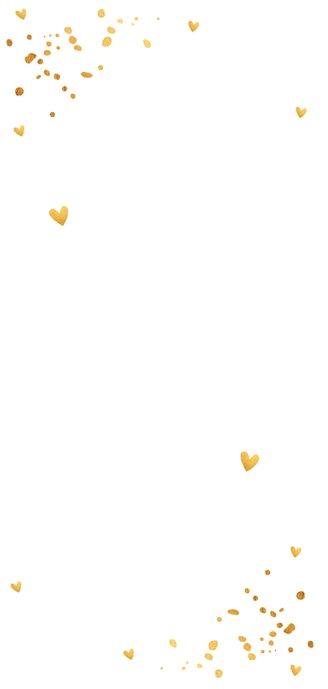 Nieuwjaarskaart langwerpig foto confetti goudlook 2