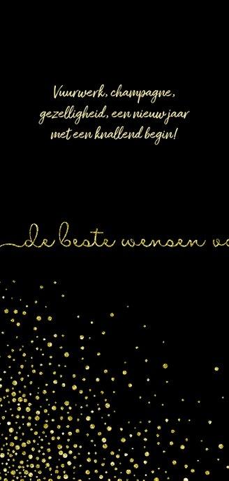 Nieuwjaarskaart 'tweeduizendeenentwintig' met glittereffect 2