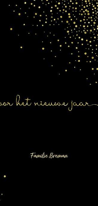Nieuwjaarskaart 'tweeduizendeenentwintig' met glittereffect 3