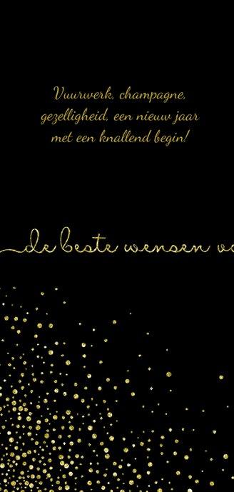 Nieuwjaarskaart 'tweeduizendnegentien' met glittereffect 2