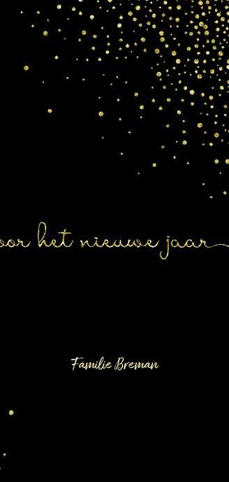 Nieuwjaarskaart 'tweeduizendtwintig' met glittereffect 3