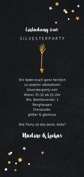 Partyeinladung Wie Party ist das denn bitte Rückseite