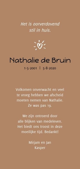Rouw bedankt only the good die young Achterkant