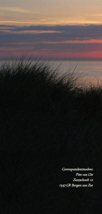Rouwkaart strand zonsondergang 2