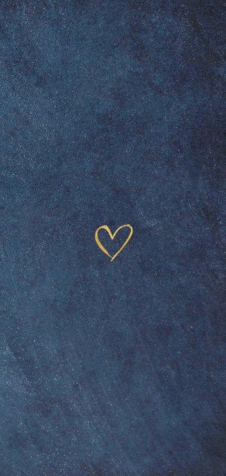Stijlvolle donkerblauwe botanische trouw menukaart   Achterkant