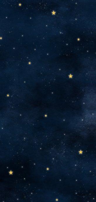 Stoer geboortekaartje met hartvormige maan, sterren & heelal Achterkant
