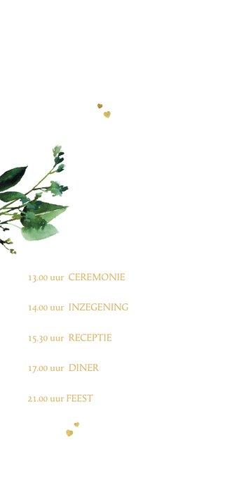 Trouwkaart met botanische elementen 2