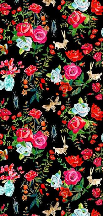 Trouwkaart rode en roze rozen Achterkant